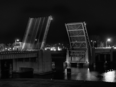 Drawbridge at Midnight (Black & White)