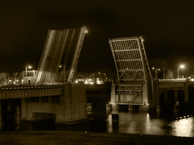 Drawbridge at Midnight (Sepia)