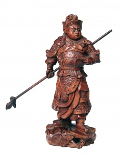 Chinese Warrior Carving