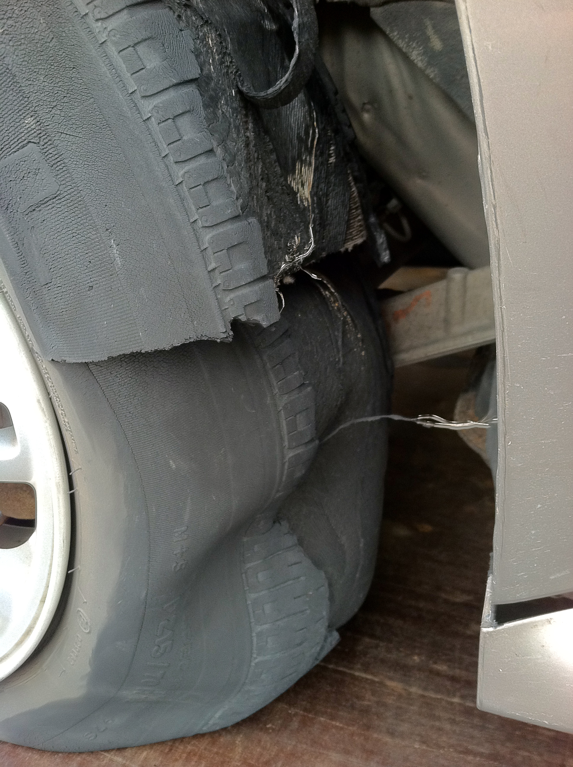 Exploded Tire